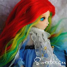 "Sweetiiger 6-7"" 1/6 BJD Hair IP yoSD doll wig Super Dollfie fantasy rainbow hair"