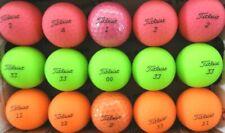15 TITLEIST VELOCITY pink, green, orange used GOLF BALLS, AAAA,  FREE SHIPPING