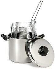Excelsteel 6 Quart Stainless Steel Stove Top Deep Fryer, New, Free Shipping