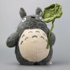UK Stock Studio Ghibi My Neighbour Totoro Cute Large Plush Toy with Leaf 38CM