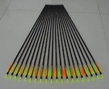 "12)28"" GP Fiberglass Practice/hunting Arrows W/changeable Point"
