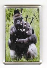 GORILLA PLAYING BAGPIPES FRIDGE MAGNET