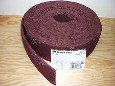 (3,19€/m) 10m Schleifvlies  3M Scotch rot CF-RL für Edelstahl, Metall, Holz...
