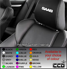 SAAB CAR SEAT / HEADREST DECALS - 9-2 9-3 9-3X 9-4X- Vinyl Stickers -Graphics X5