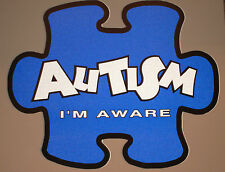 Autism Awareness LIGHT IT UP BLUE Reflective Sticker REFLECTOR I'm Aware!