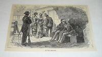 1878 magazine engraving ~ AT THE ARSENAL ~ Cuba
