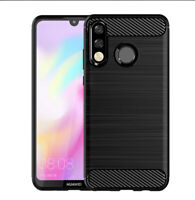 Slim Tough Bumper Rugged Armor Case Cover For Huawei P30 Lite - Matte Black