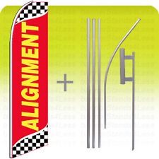 Alignment Swooper Flag 15' Kit Feather Flutter Tall Banner Sign - checkered rb