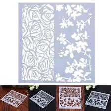 Cake Coffee Cookies Stencil Fondant Art Template Decorating Mold DIY Spray Mould