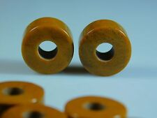 On Sale Natural Brown Jasper Wheel Shape European Big Hole Beads 8x14mm 2 Pcs