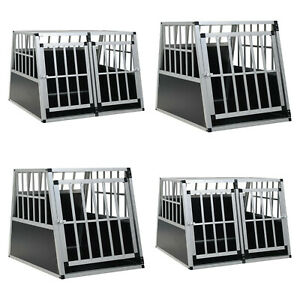 Dog Pet Cage Aluminium Transport Crate Puppy Car Travel Carrier Kennel Box