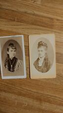 Antique Lot 6 Cabinet Cards of Ladies Victorian Different Photographers Rare
