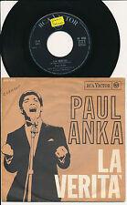 """PAUL ANKA 45 TOURS 7"""" ITALY SENZA TE IO ME MORO"""