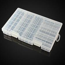 Battery Holder Case Plastic Hard Storage Box Rack Transparent for AAA AA