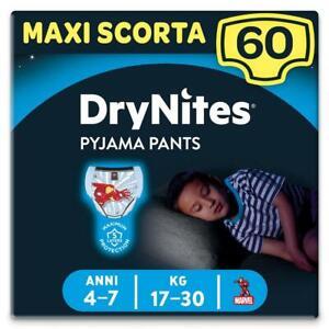 Huggies Drynites Mutandine per Bambino 4-7 anni Maxi Confezione da 60 Mutandine