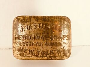 J. D. STIEFEL MEDICINAL SOAPS, 383 Fifth Ave., New York, N.Y. Tin - FREE SHIP