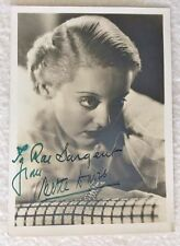 Bette Davis - Vintage 30's Sepia Photo - Signed Autograph  *Hollywood Posters*
