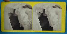 1860s Suisse Stereoview Caverne De Glace Glacier Bossons Alpine Club W England