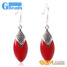 Drop/Dangle Oval Coral Costume Earrings