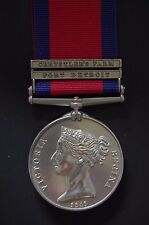 "SILVER 2  CLASP MGSM , ""FORT DETROIT"" & ""CHRYSTLER'S FARM"" ( A STUNNING MEDAL)"