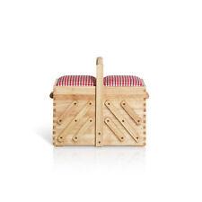 Prym Nähkasten aus hellem Holz, mit Stoff, Art. 612547