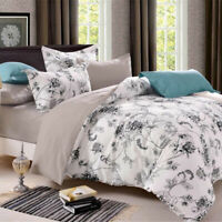 UK Size Bedding Set With Duvet Cover Pillow Cases Quilt Cover Single Double King