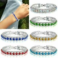 Women's Luxury Exquisite Rhinestone Bracelet Crystal Bangle Charm Jewelry Gifts