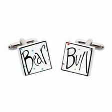 Bull and Bear Cufflinks by Sonia Spencer Hand Painted