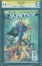 Justice League 3 CGC SS 9.8 Greg Capullo Signed Variant Top 1 Cover Jim Lee art