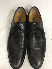 Johnston and Murphy Men's Captoe Dress Shoes Sz 10.5 M Burnished Black