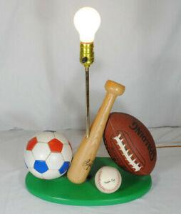 This End Up All Sport Lamp Base Baseball~Soccer~Football (NO SHADE) HTF