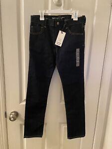 Gap Kids 1969 Gap for Good High Stretch Slim Jeans Dark Wash Boys Size 12 NWT