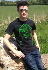 """NEW ** Fluo GREEN - PREDATOR """"Want some candy?"""" movie film mens T-shirt"""