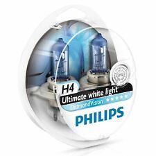 PHILIPS H4 DIAMOND VISION 12V 55/60W HEADLIGHT LAMP BULBS 5000K ULTIMATE WHITE