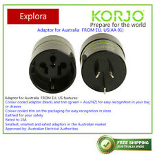 Korjo Reverse Adaptor Plug from EU/USA/JA To AU/NZ AA01
