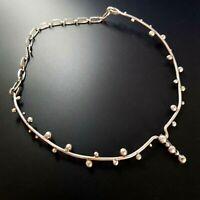 Israel Vintage Modernist Sterling Silver 925  necklace SHORT