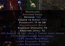 Boneflame Necro Shield | Knochenflamme | Diablo 2 Resurrected D2R SC PC