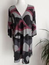 Robe Tunique Noire Violette Grise 48/50 Comme Neuve BLANCHEPORTE (50)