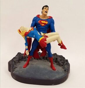SUPERMAN & SUPERGIRL Crisis On Infinite Earths DC Direct Statue 129/2550 -loose