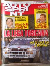 AUTOSPRINT n°43 1992 Nannini Larini Campione Superturismo - Dallara 392   [P63]
