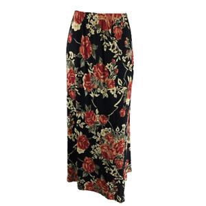 Coldwater Creek Size XL Floral Maxi Skirt Textured Stretch Long Pull On Casual