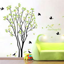 Large Birds Green Tree Removable Wall Sticker PVC Mural Decals DIY Home Decor