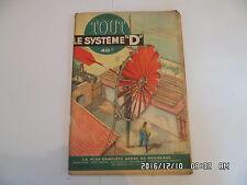 SYSTEME D N°101 05/1954 CAGE ELEVEUSE DE CANARIS BANC PLIANT DE JARDIN    D38