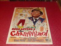 Cinema Plakat Original Belgisches - Wir Andere A Champignol Jean Richard 1957