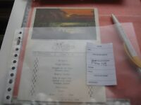 authentic Menu card 1928 Congo boat ANVERSVILLE, rowing boats First Class C.M.B.