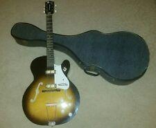 VINTAGE Pre-1966 Harmony Rocket Hollow Body Electric Guitar w/case!!!