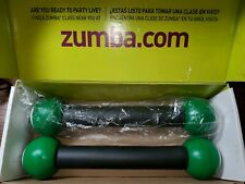 Zumba Toning Sticks 1-Pound Each Lime Green and Black Set of 2 With Box