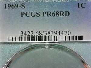UNITED STATES--1969 S PCGS PR68RD MEMORIAL CENT