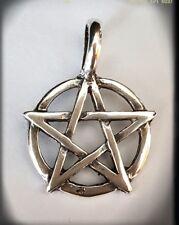 Pentagrama wicca Pendant 925 Sterling Silver pagan wicca estrella cinco puntas