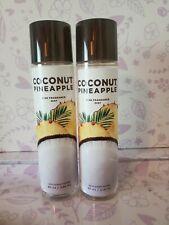 Bath & Body Works GIFT Set COCONUT PINEAPPLE ~ 2 Mists Sprays FREE Shipping